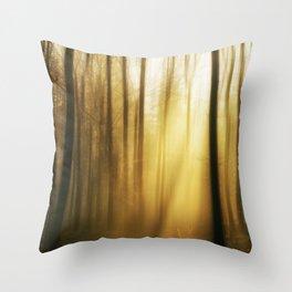 The Golden Forest III Throw Pillow