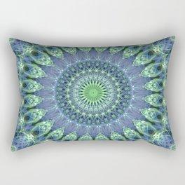 Mandala in light green and blue colors Rectangular Pillow