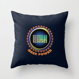 Geek Power Throw Pillow