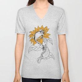 Catflower Unisex V-Neck