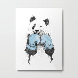 The winner panda Metal Print