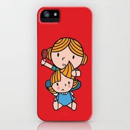 mom & daughter iPhone Case