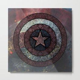America Mandala Metal Print