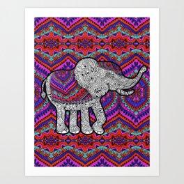 TRIBAL ELEPHANT Art Print