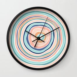 Rainbow (Infinite Loop) / Abstract Shapes Wall Clock
