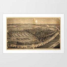 Camp Foster, Cuyahoga Falls, Ohio (1880) Art Print