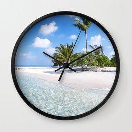 Maldives beach Wall Clock