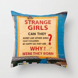 Wicker Park Girls Throw Pillow