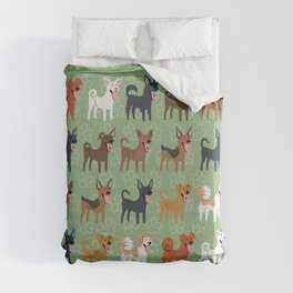 Formosan Mountain Dogs Duvet Cover