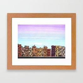 New York Purple Sky Framed Art Print