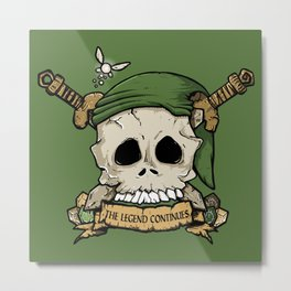 Skull Link Metal Print