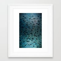 grid Framed Art Prints featuring Grid by Tayler Smith