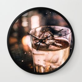Golden shimmer - Bar Wall Clock