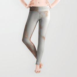 Marble Rose Gold Shimmery Marble Leggings