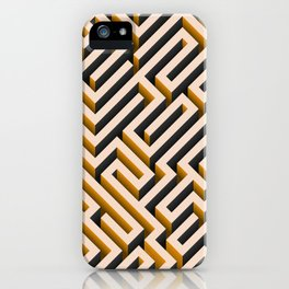 Orange Maze iPhone Case
