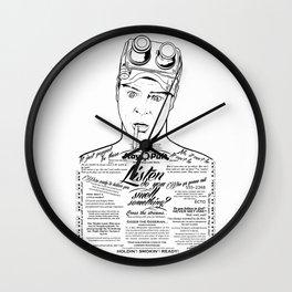 Dan Aykroyd Tattooe'd Ghostbuster Ray Stantz Wall Clock