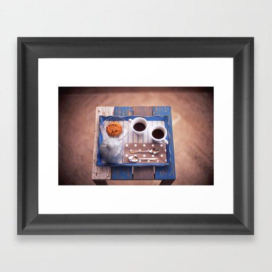 Serving Coffee Framed Art Print