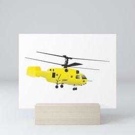 Yellow Helicopter Mini Art Print