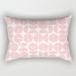 Pink Peach Circle 70s Pattern | Fun | Happy Pattern Rectangular Pillow