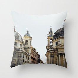 Piazza Del Popolo Rome Throw Pillow