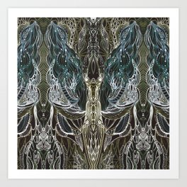 Forest lace Art Print