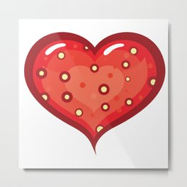 Strawberry sweet heart Metal Print