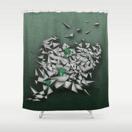 Emeralds Shower Curtain