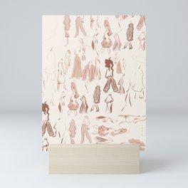 rosey runway Mini Art Print