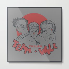 [ Supernatural ] Castiel Dean Sam Winchester Team Free Will Metal Print