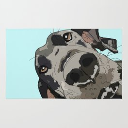 Great Dane In Your Face Rug
