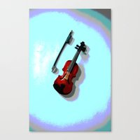 violin Canvas Prints featuring Violin by Vitta
