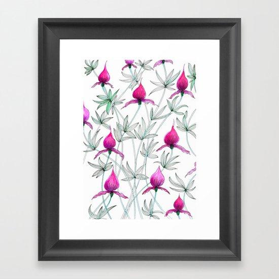 small purple flowers Framed Art Print