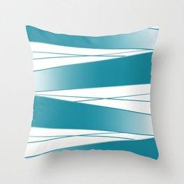 White and blue Throw Pillow