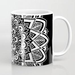 Black and White Boho Mandala Coffee Mug