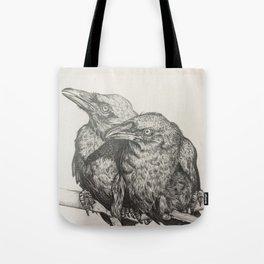 Huginn and Muninn Tote Bag