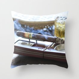 Cigar Time Throw Pillow