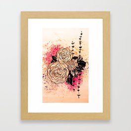 flora 2 Framed Art Print