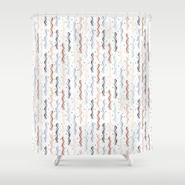 Party DNA on White Shower Curtain