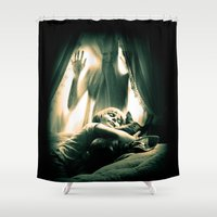 horror Shower Curtains featuring Horror by Joe Roberts