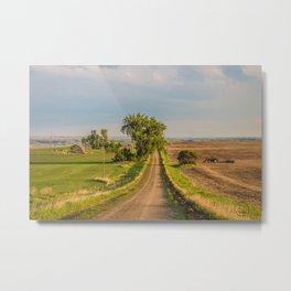 County Road, North Dakota 20 Metal Print