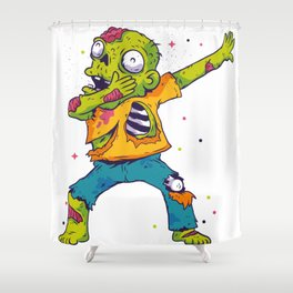 Dab Dabbing Zombie USA Halloween Trend Shower Curtain