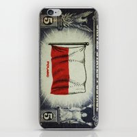 poland iPhone & iPod Skins featuring Flag of Poland by lanjee