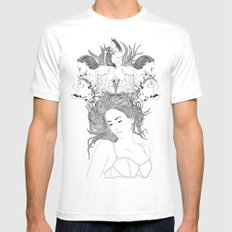 Dreams MEDIUM Mens Fitted Tee White