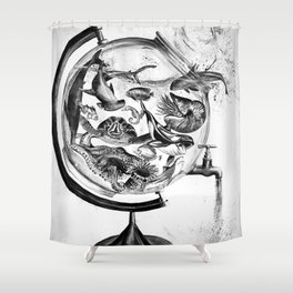 The Spill Shower Curtain