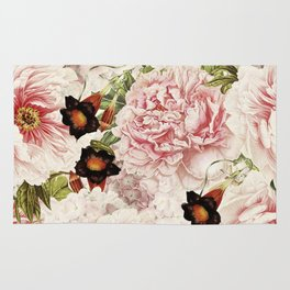 Vintage Peony and Ipomea Pattern - Smelling Dreams by #UtART Rug