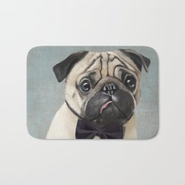 Mr Pug Bath Mat
