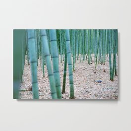The Bamboo Grove, Arashiyama, Kyoto Metal Print