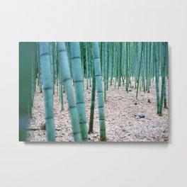 The Bamboo Grove, Arashiyama, Kyoto Metal Print