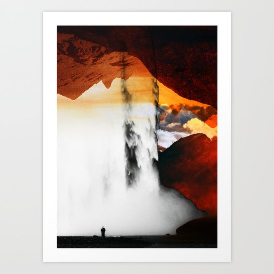 Isolation Waterfall Art Print