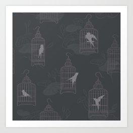 Birdcage Evening Lotus Art Print